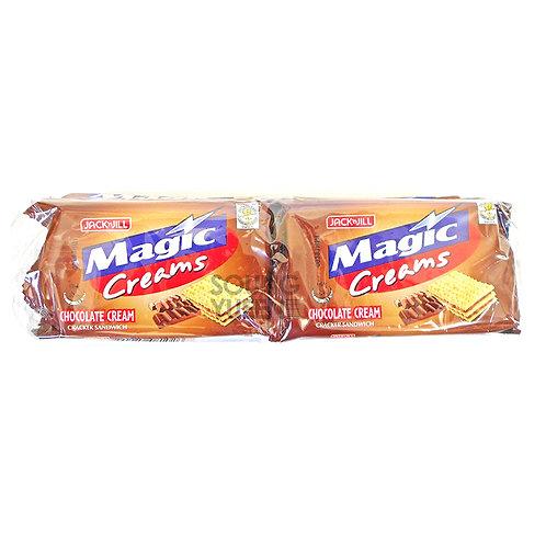 JACK N JILL MAGIC CREAMS CHOCOLATE CREAM CRACKER SANDWICH 280G