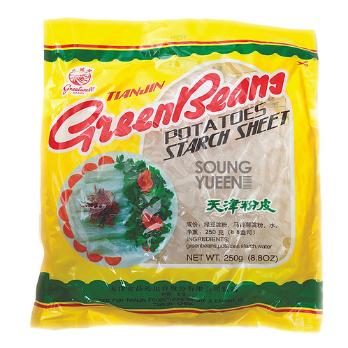 GREATWALL BRAND TIANJIN GREEN BEANS POTATOES STARCH SHEET 250G