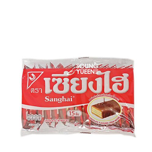 SHANGHAI CHOCOLATE FLAVOURED CREAM WAFERS 15P