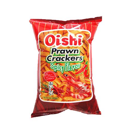 OISHI PRAWN CRACKER SPICY 60G