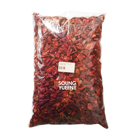 DRIED CHILLI SLICED WITH SEED 1KG