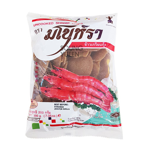 MANORA UNCOOKED SHRIMP CHIPS 200G