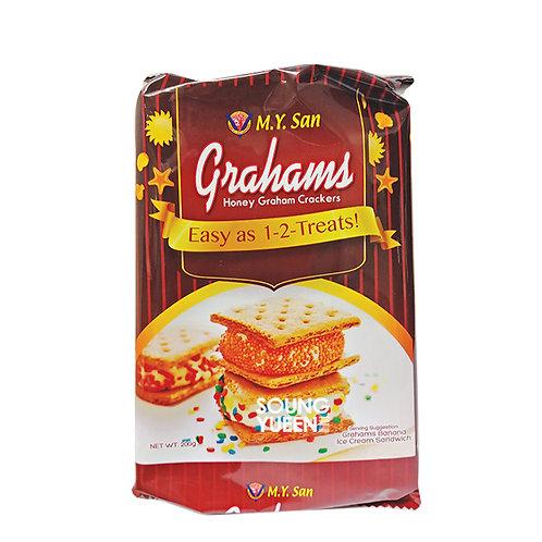 M.Y.SAN GRAHAMS HONEY GRAHAM CRACKERS 200G