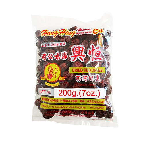 HANG HING RED DATES 200G