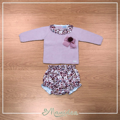 Vestito Maroon Flower