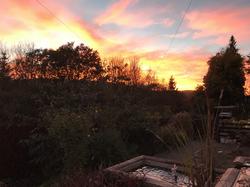 Sunset at Arfryn House