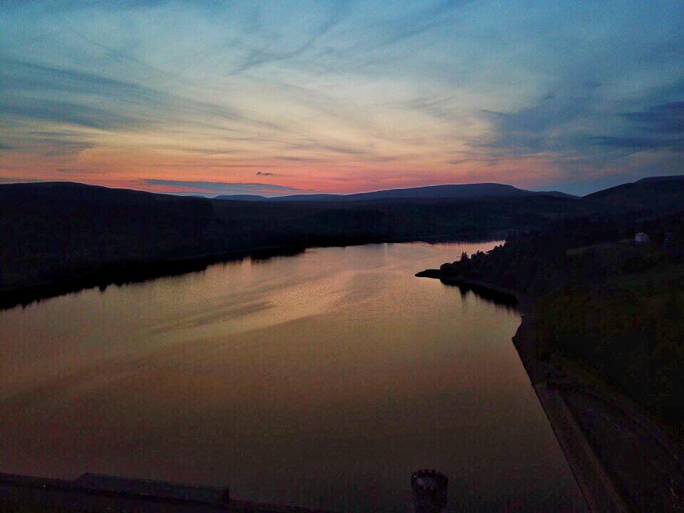 Sunset on Llwyn Onn
