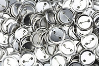 Shiny pile of Button Badges