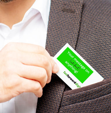 Man pulling personalised Business Card from top pocket