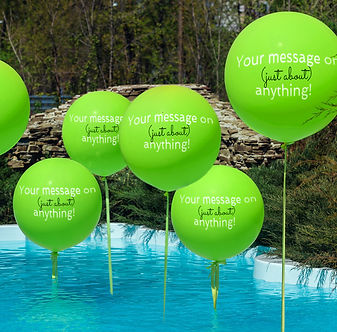 Balloons with customised messages