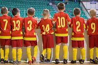 Custom decorated clothing kid's sports team