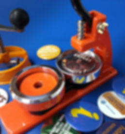 Button Badge machine with various samples.