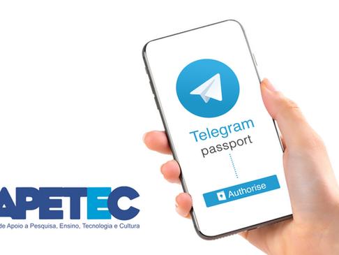 FAPETEC lança canal no Telegram para divulgação de notícias