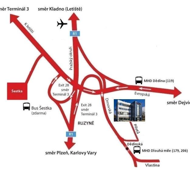 Mapka příjezdu