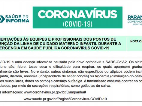 Orientações às Equipes e profissionais para  o Atendimento à Covid-19