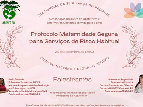Live: Protocolo Maternidade Segura para Serviços de Risco Habitual