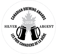 Canadian Brewing Awards 2018 Silver Medal