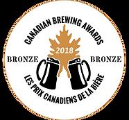 Canadian Brewing Awards 2018 Bronze Medal