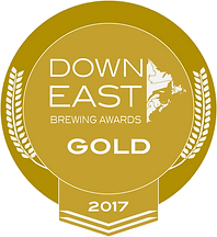 Down East Brewing Awards 2017 Gold Medal