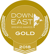 Down East Brewing Awards 2018 Gold Medal