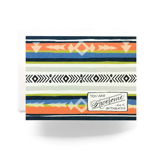 Camp Blanket Awesome Greeting Card by Antiquaria