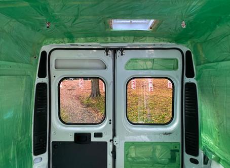 Van Build | Window Installation