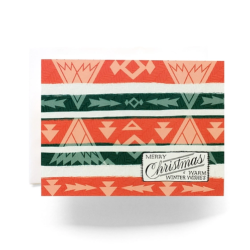 Camp Blanket Christmas Greeting Card by Antiquaria