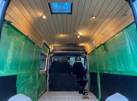 Van Build | Ceiling Installation