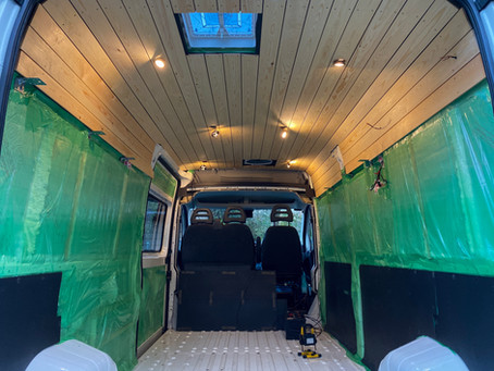 Van Build | Ceiling Installation