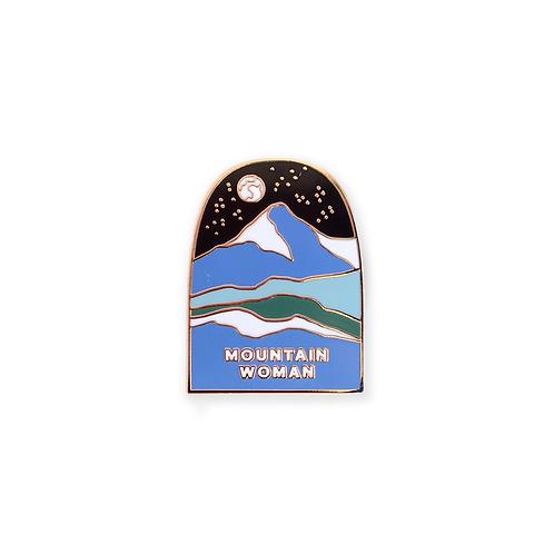 Mountain Woman Enamel Pin by Antiquaria