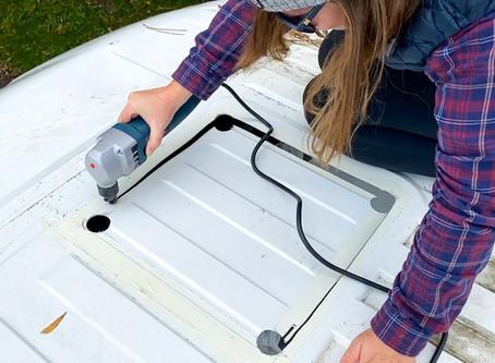 Van Build | Skylight Installation