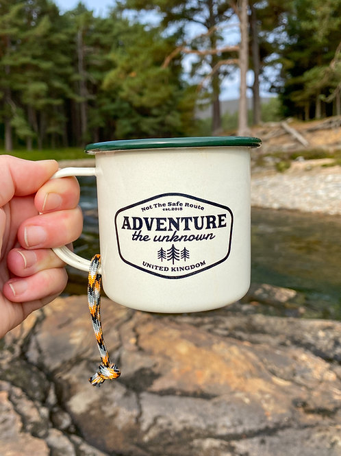 Adventure The Unknown Enamel Mug by Not The Safe Route