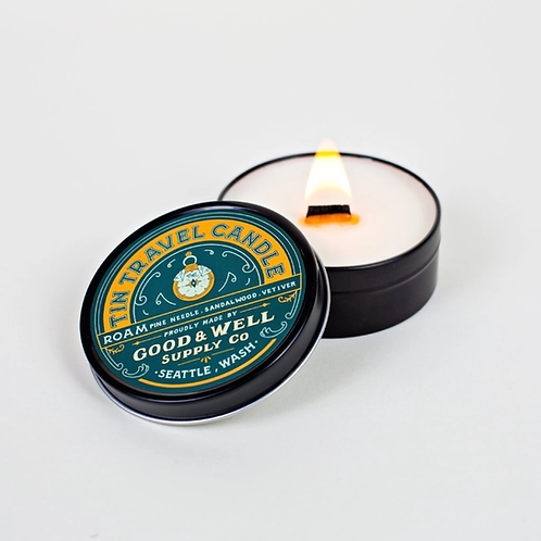 Roam Tin Travel Candle by Good & Well Supply Co