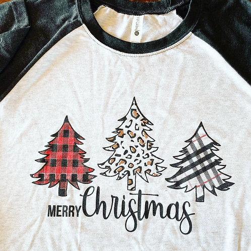 Black Baseball Christmas Tree Shirt