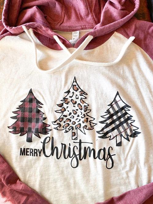 Hooded Christmas Tree Shirt