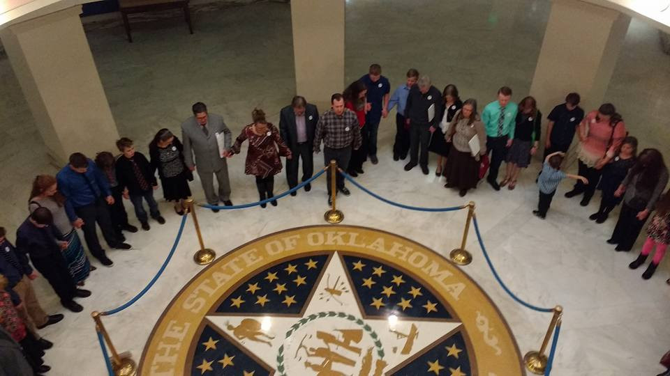 A moment of prayer at the 2017 Legislative Impact Day