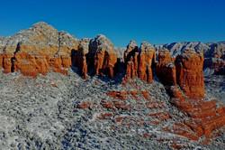 Sedona Arizona Red Rocks and snow