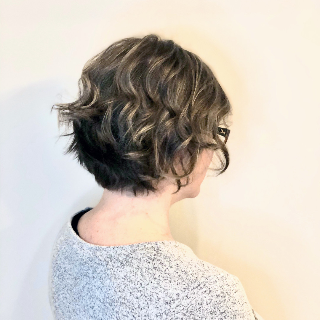 Textured bob with highlights