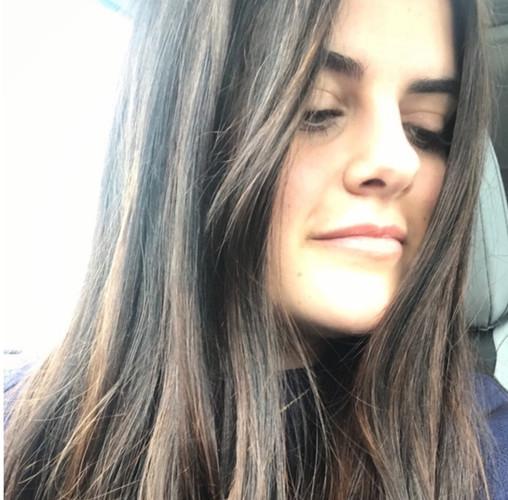 Long balayaged brown hair