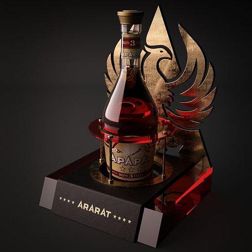 Single Acrylic Led Wine Bottle Glorifier Display Stand