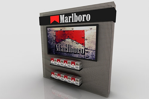 LED wall-mounted acrylic cigarette display