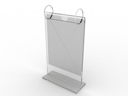 Table top A5 metal glass flip restaurant menu card sign holder