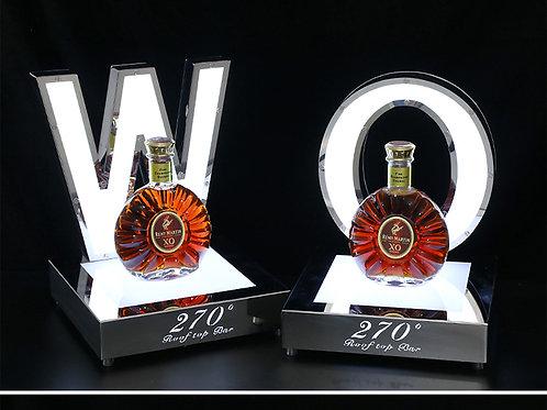 led acrylic wine bottle display