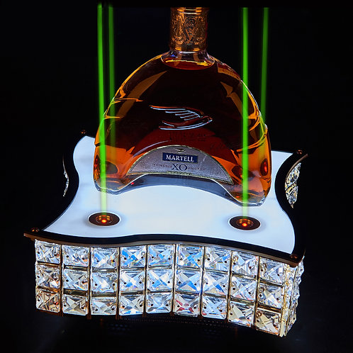 crystal Glorifier wine bottle holder with laser lighting