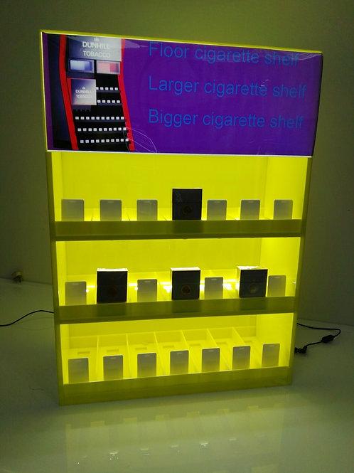 wall-mounted acrylic cigarette display