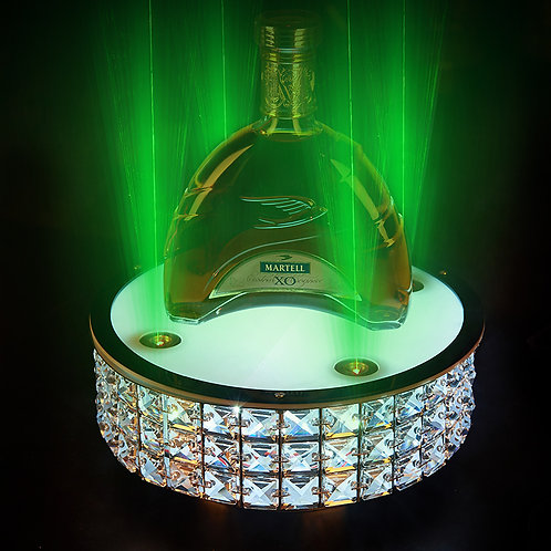 crystal wine bottle holder with laser lighting