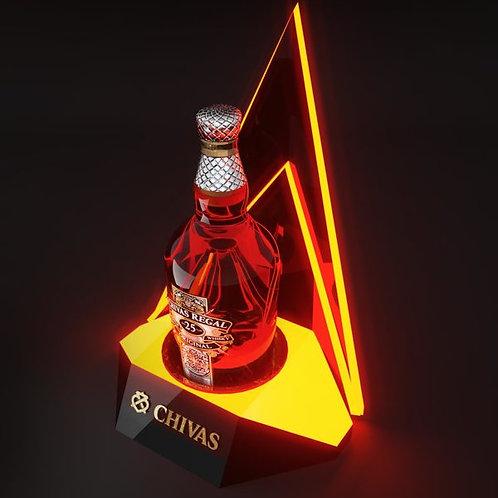 Led single wine bottle holder