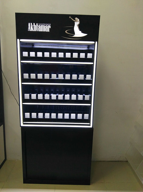 led cigarette display stand shelf