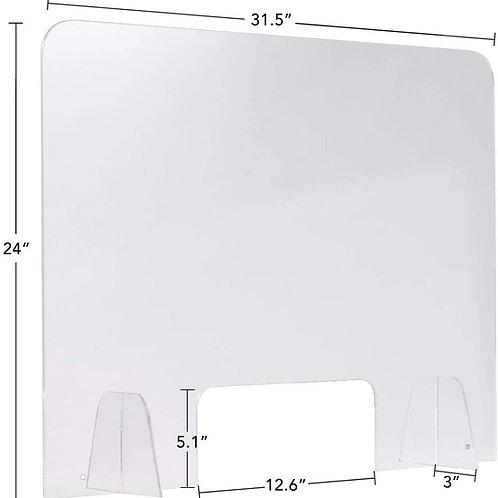Best Sneeze Guard-Clear Acrylic Sheet Counter Protective Sneeze Guard Social Dis