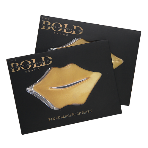 24K Gold Botanical Collagen Lip Mask